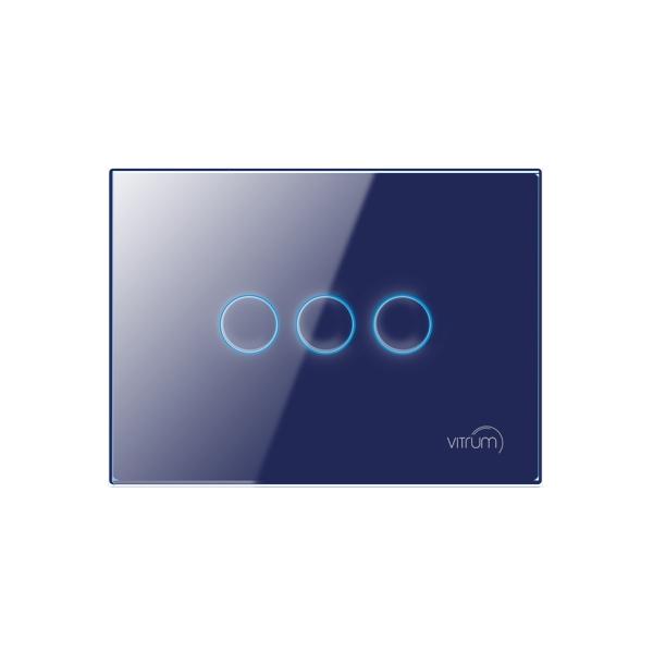 Mặt công tắc ba nút không dây Vitrum chuẩn EU