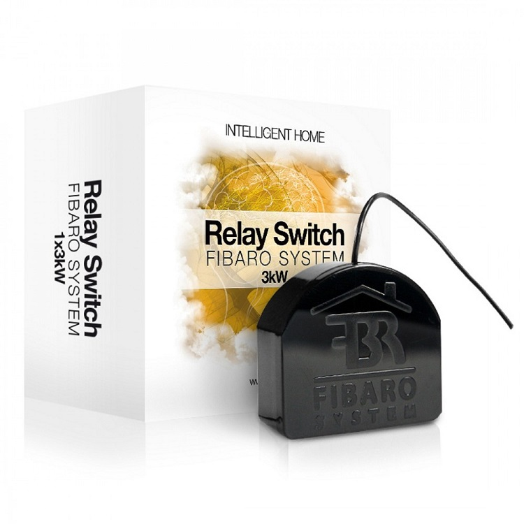 FIBARO Relay Switch 1x2.5KW  - Relay 1 tiếp điểm công suất 2.5KW FIBARO