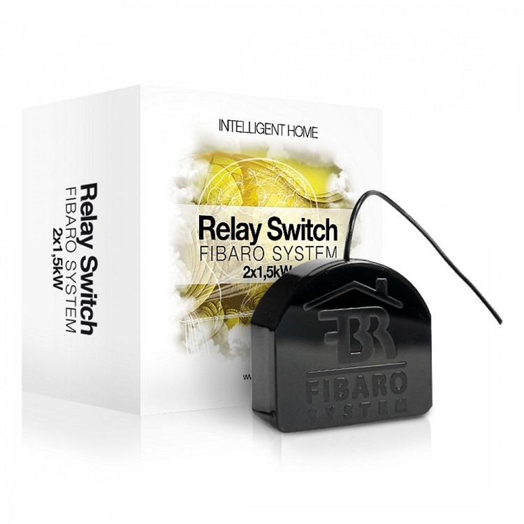 FIBARO Relay Switch 2x1,5kW - Relay 2 tiếp điểm công suất 2x1.5KW FIBARO