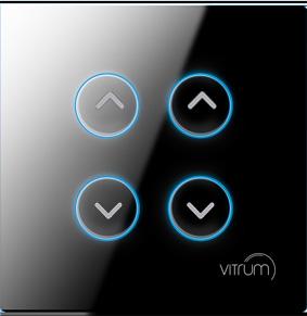Mặt công tắc bốn nút điều khiển rèm, cửa cuốn không dây Vitrum - chuẩn BS